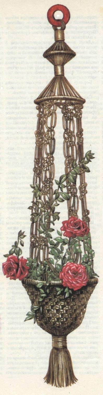 Кашпо для цветов плетение